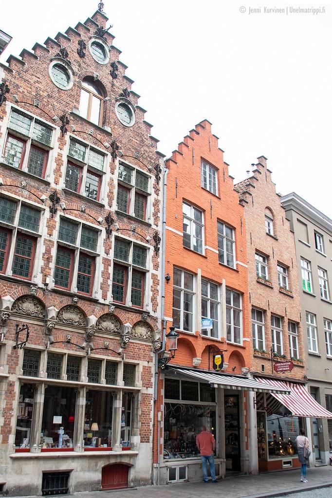 Koristeellisia taloja Bruggessa