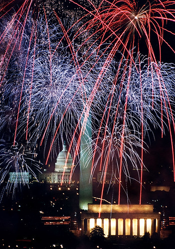 Fireworks over the U.S. Capitol and Monuments on the Mall 1993