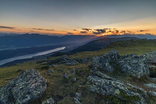 granattor lake millstatt millstätter alpe carinthia sunset austria millstättersee mountains nature nockberge alps