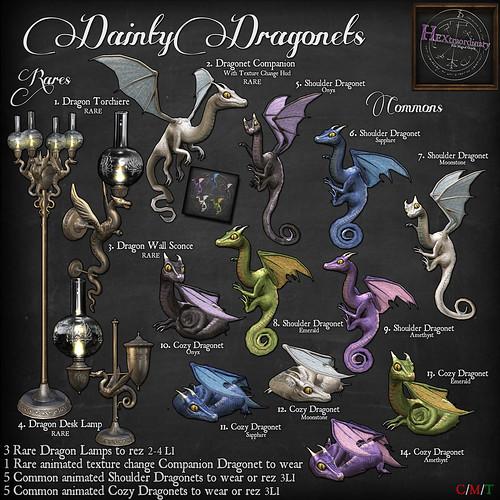 HEXtraordary Dainty Dragonet Gacha!