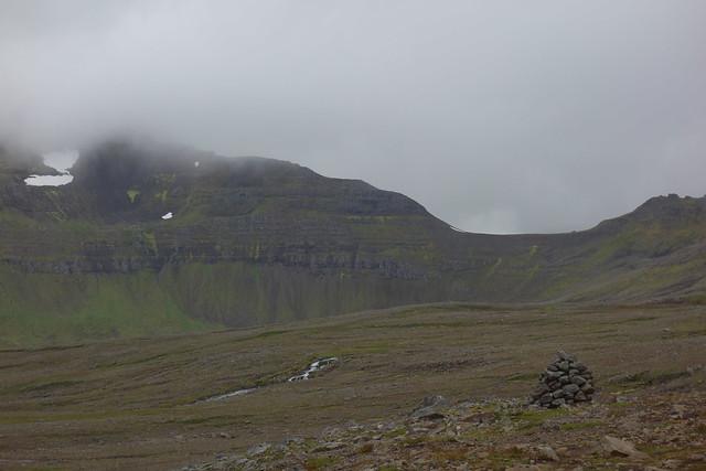 Looking back towards Atlaskarð pass.