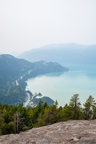 amerique vancouver canada montagne paysage america lake landscape mountain squamish colombiebritannique ca mer brouillard