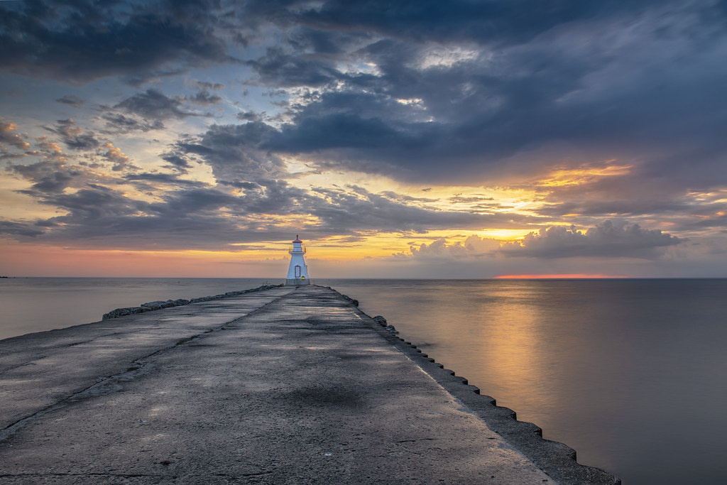 Southampton Lighthouse sunset, Ontario