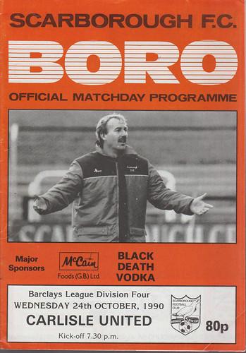 Scarborough V Carlisle United 24-10-1990 | by cumbriangroundhopper