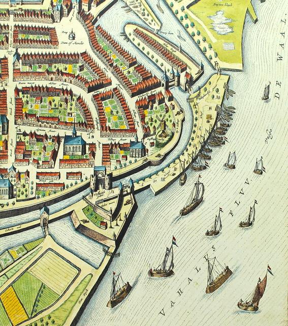 Joan Blaeu, Map of Tiel, Dutch Republic 1649