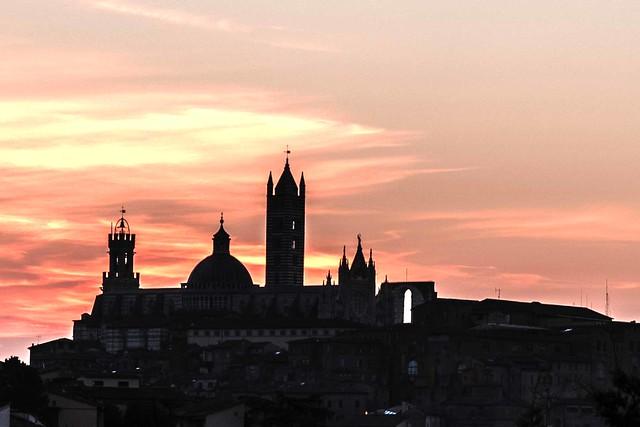 Siena all'alba