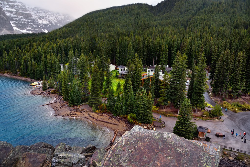 Views Of The Moraine Lake Lodge From Atop The Rockpile Ba