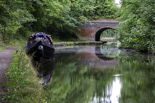 grandunioncanal reflections bridge reflection england knowle solihull water longboat towpath