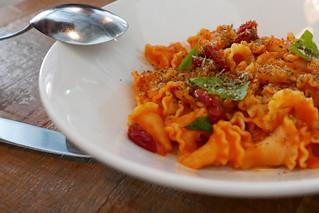 Campanelle Al Pomodoro, blistered cherry tomato, basil, za'atar $15 | by loustejskal.com