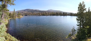 2765 Susie Lake panorama from the southwest shoreline on the Pacific Crest Trail   by _JFR_
