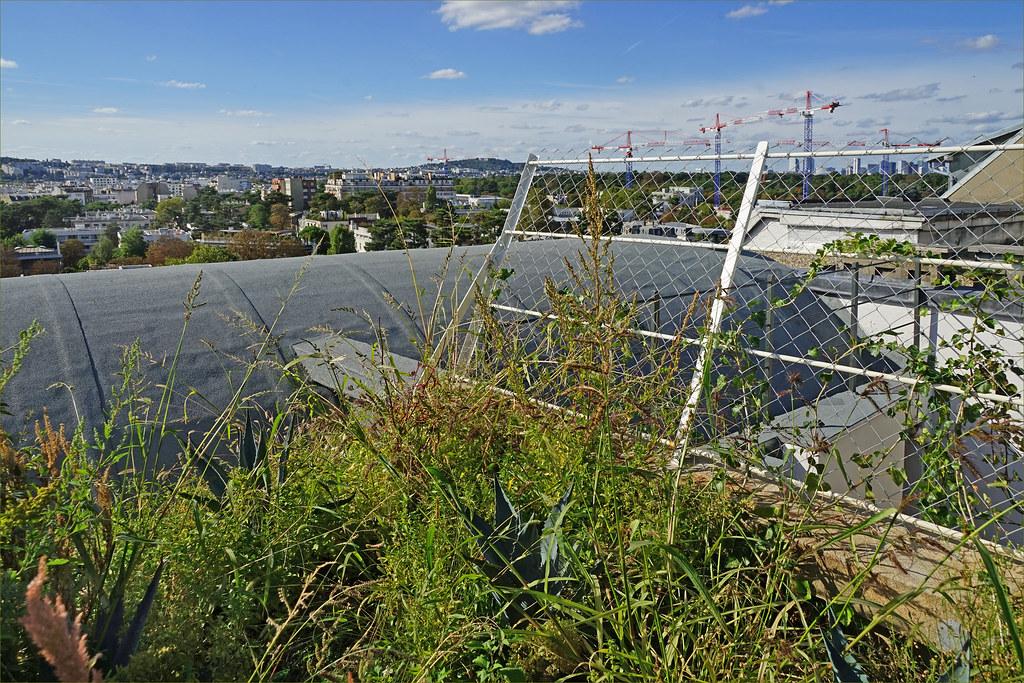 Le toit-jardin de l'atelier-appartement de Le Corbusier (Paris)
