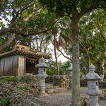 Shrine with stone lanterns in Kabira bay, Yaeyama Islands, Ishigaki-jima, Japan © Eric Lafforgue www.ericlafforgue.com