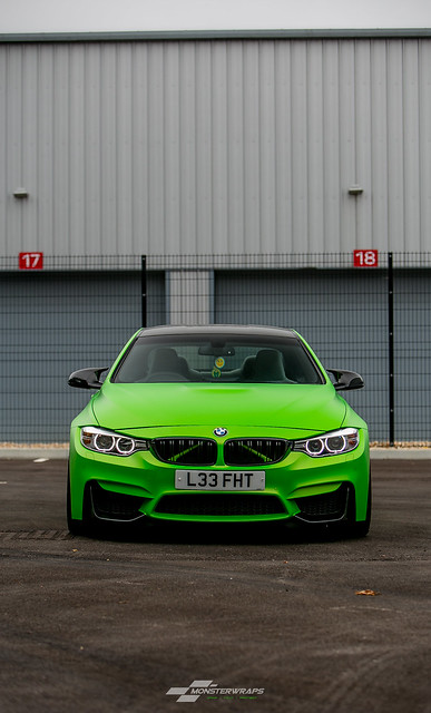 BMW M4 Wasabi Green matte wrap