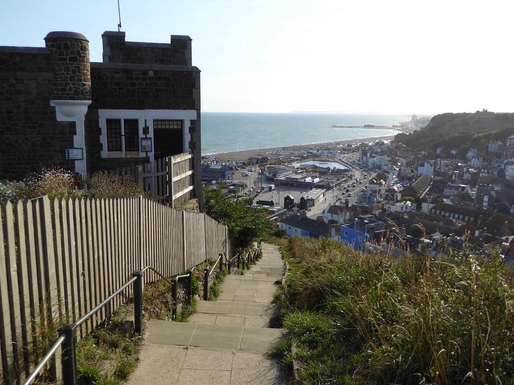 Descending to Hastings Hastings to Winchelsea via Three Oaks walk
