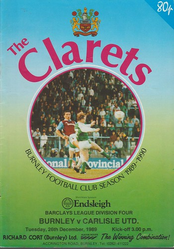 Burnley V Carlisle 26-12-89 | by cumbriangroundhopper
