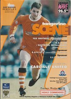 51.Blackpool V Carlisle 23-3-96   by cumbriangroundhopper