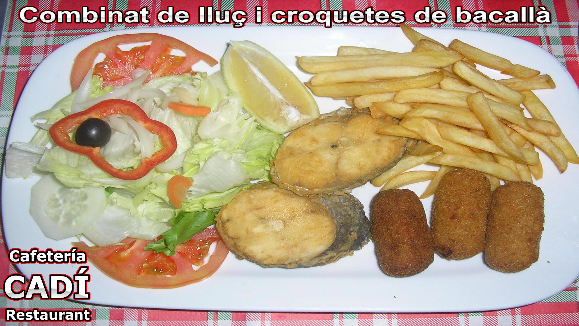 Merluza y Croquetas