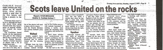 Airdrie V Carlisle United 2-8-87 | by cumbriangroundhopper