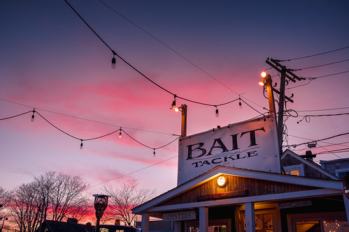 bait northfork sunset restaurant oysters tackle longisland fujifilm dusk xpro2 seafood evening fuji sky littlecreek greenport village littlecreekoyster newyork unitedstates us