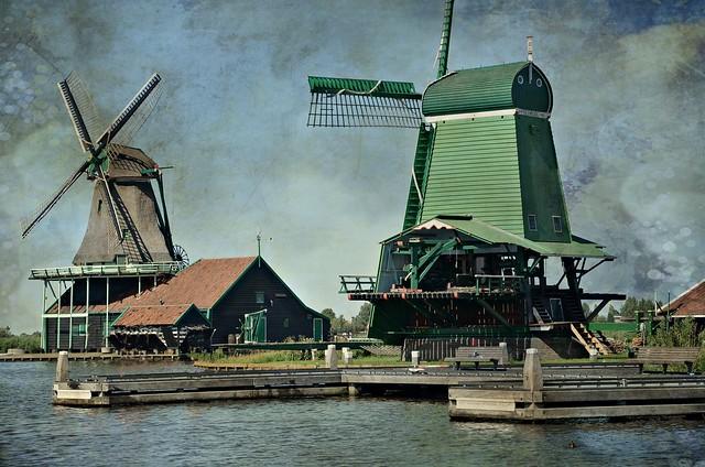 Old dutch windmills
