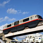 Yui-rail model 1000, #1204 at Asahi-bashi This is a local train bound for Shuri on Yui-rail line operated by model 1000.  Photo: Jan. 15th, 2018, Asahi-bashi, Okinawa-toshi-monorail, Naha, Okinawa pref., Japan