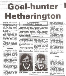 Carlisle United V Sunderland 10-8-87 | by cumbriangroundhopper