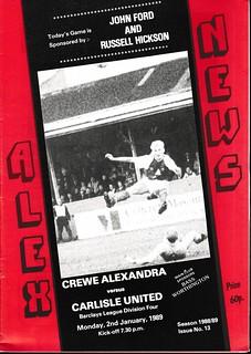 Crewe Alexandra 2-1-89 | by cumbriangroundhopper