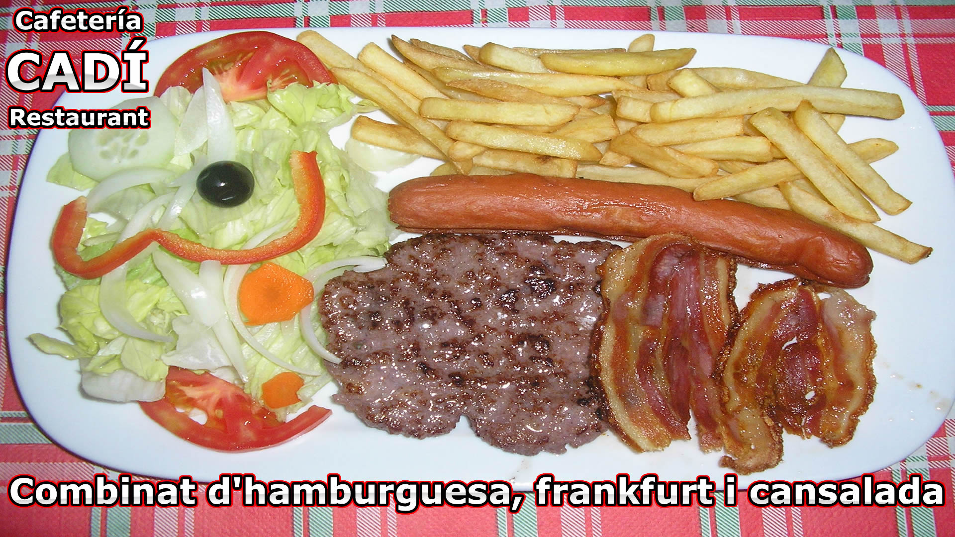 Hamburgues, Frankfurt y Bacon