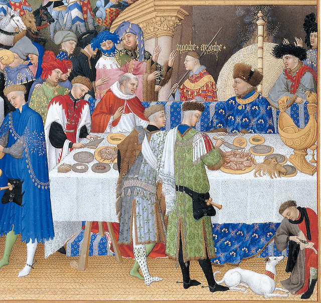 January - A New Year's Day feast including Jean, Duc de Berry