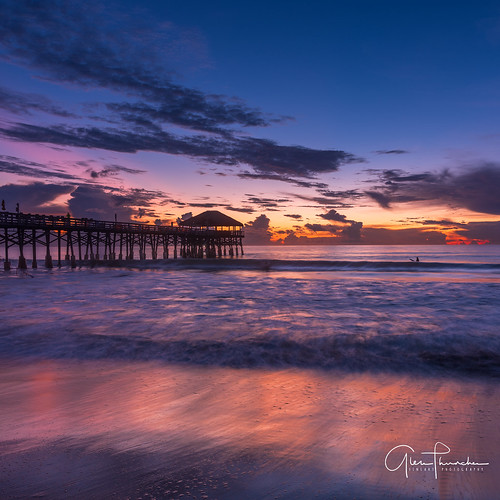 fujifilm fuji gfx50s fujigfx50s mediumformat longexposure scenic landscape waterscape oceanscape nature outdoors sky clouds colors reflections beach sunrise pier surfing cocoabeachpier cocoabeach spacecoast florida kellyslater