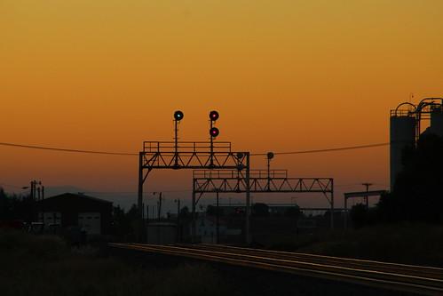 mrl bnsf np trains searchlight signal sunset missoula montana