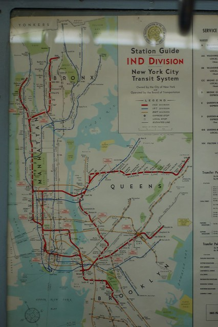 Old Ny Subway Map.Old Ind Subway Map New York Transit Museum Brooklyn Austin