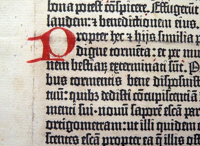 Gutenberg Bible, rubrication
