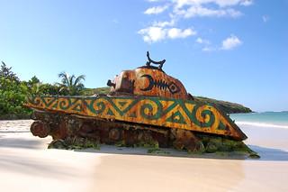 tank on Flamenco Beach | by bowiesnodgrass