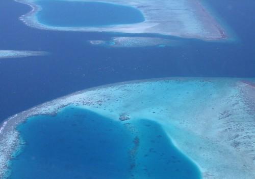 ocean blue coral island aerial maldives windowseat atoll