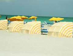 yellow cabanas, miami beach   by cosas y vida
