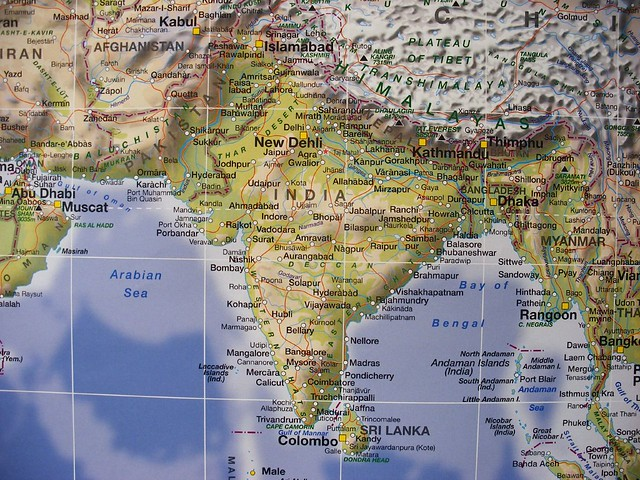 Carte India.Map Of India And Neighbouring Countries Carte De L Indie