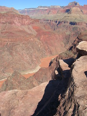 Colorado River from Plateau Point looking east Grand Canyon NP