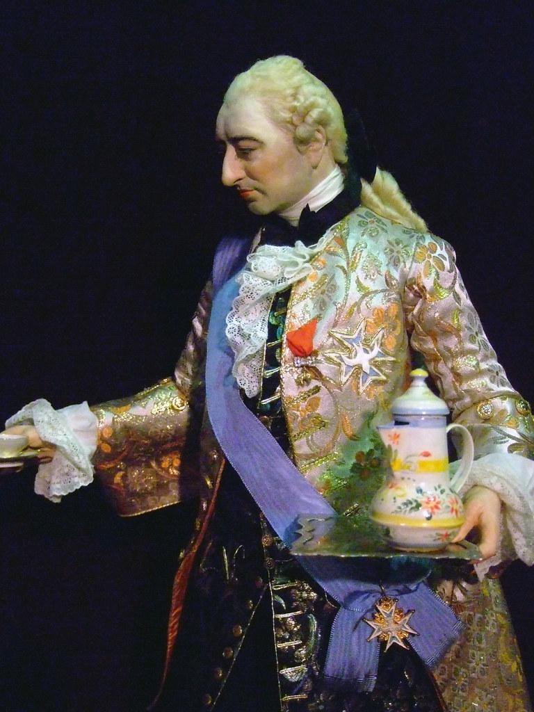 Historical Portrait Figure of King Louis XV by artist-historian George Stuart