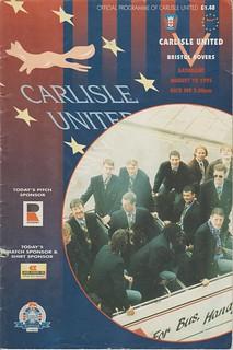 Bristol Rovers V Carlisle 12-8-95 | by cumbriangroundhopper
