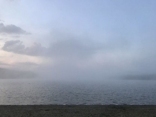 clouds vermont fog pond lake beach shoreline shore sky