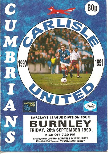 Carlisle United V Burnley 28-9-90 | by cumbriangroundhopper