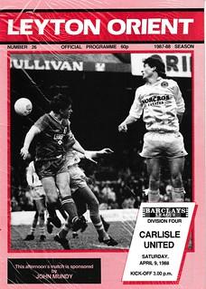 Leyton Orient V Carlisle United 9-4-88   by cumbriangroundhopper