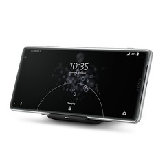 Xperia XZ3_Wireless Charging Dock WCH20_Fronthoriz_Front40_White_Silver