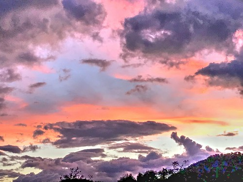 sunset sky clouds nc haywoodcounty northcarolina nature
