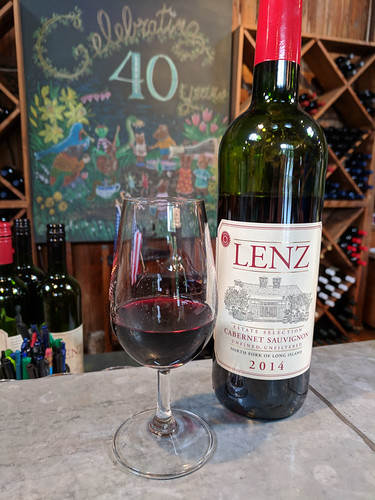 wine tasting @ Lenz + great chalk art! | by tlkativ