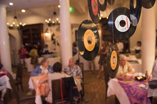 Record decor at the WWOZ Groove Gala on September 6, 2018. Photo by Ryan Hodgson-Rigsbee www.rhrPhoto.com