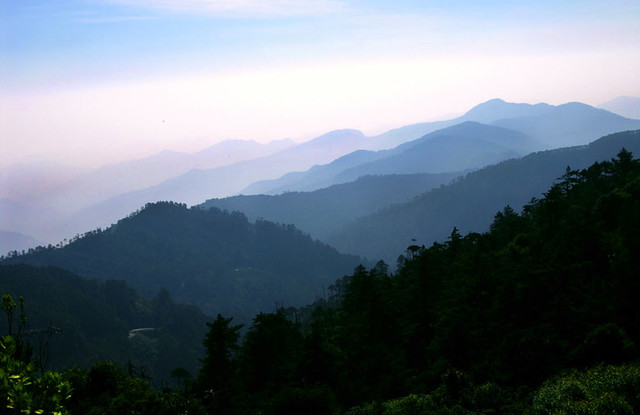 View of the Sierra Juárez (or Sierra Norte) mountains