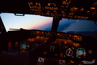 Approach into CFU during sunset   by amluhfivegolf