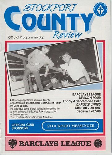 Stockport County V Carlisle United 4-9-87 | by cumbriangroundhopper